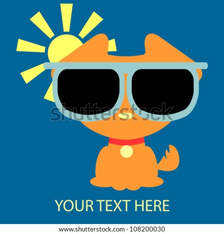 Funny dog in sunglasses card