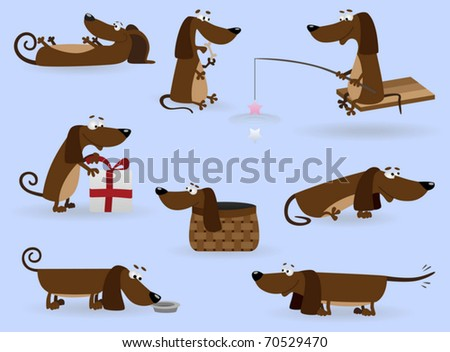 Funny dogs set#3 (Vector Illustration for web design)