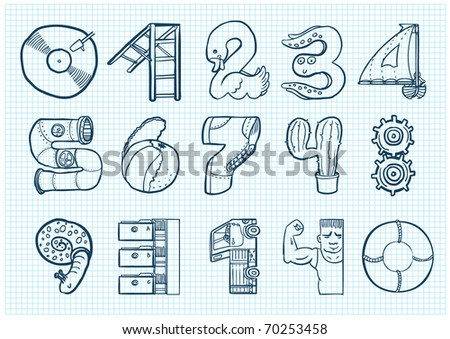 funny doodle numbers