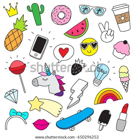 funny doodle set