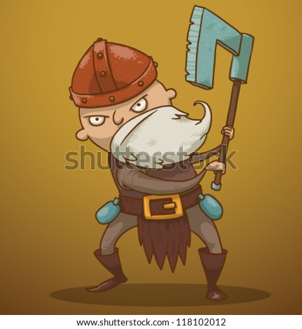 funny dwarf 03  vector
