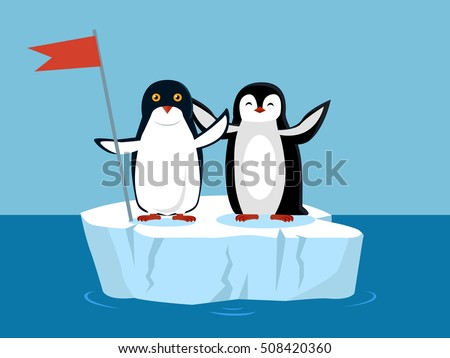 funny emperor penguins on