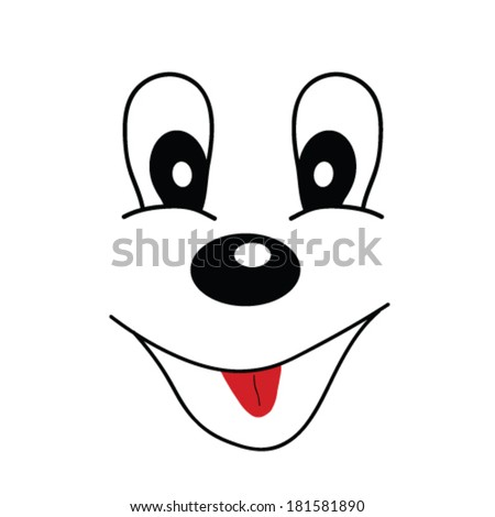 funny face cartoon illustration