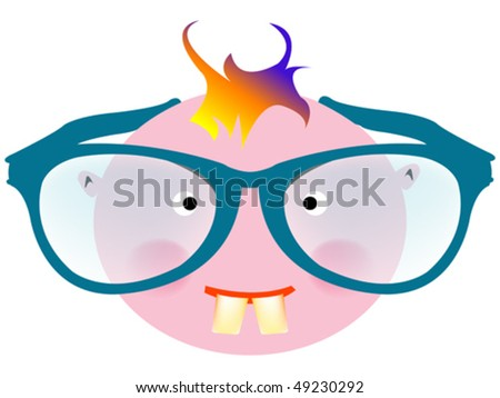 big smiley face cartoon. stock vector : funny face