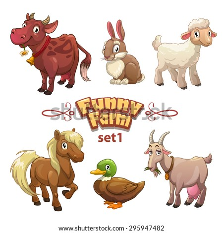 funny farm illustration  vector