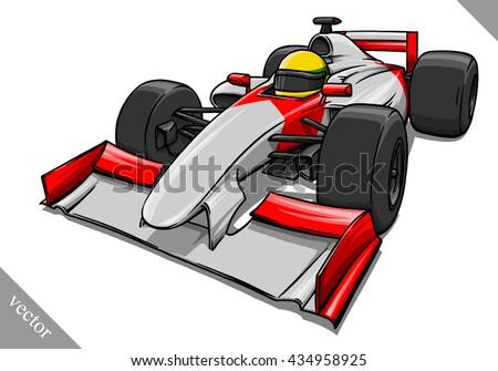 funny fast cartoon formula race