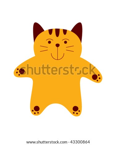 funny fat cat pictures. stock vector : funny fat cat