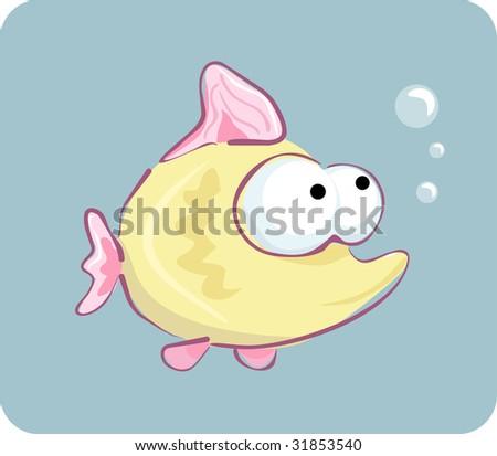 funny fish. stock vector : funny fish