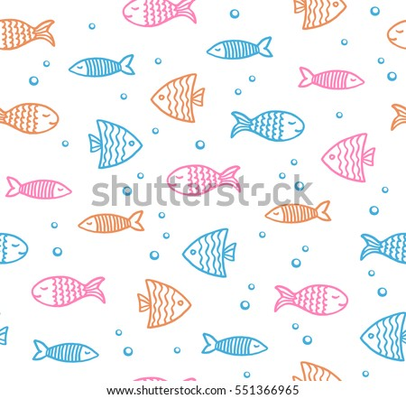 funny fish outline pattern on