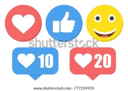 funny flat style emoji emoticon
