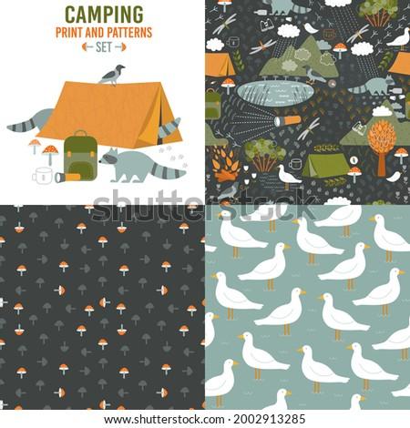 funny forest camping set design