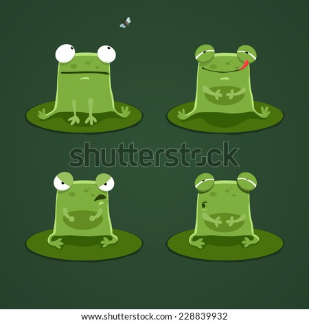 funny frogs set two