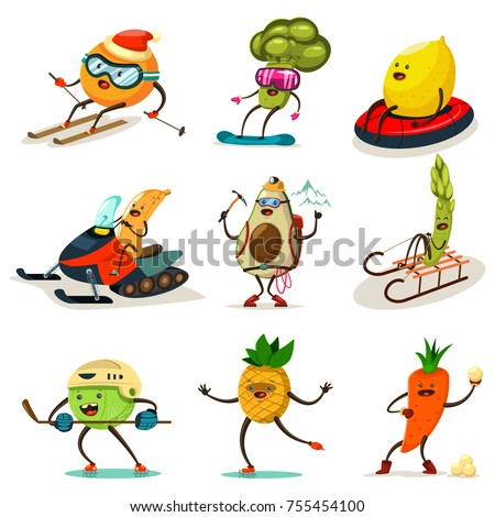 funny fruits and vegetables are
