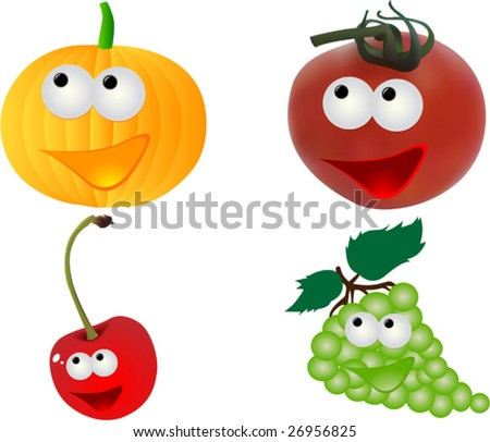 funny fruit. stock vector : Funny fruits