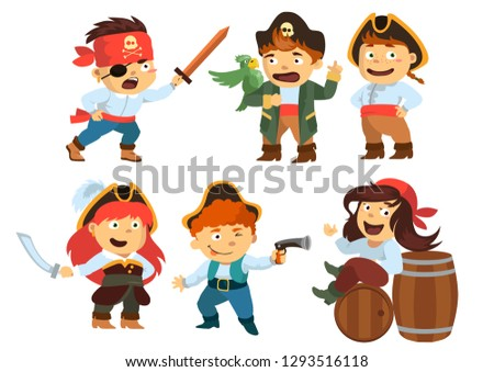 funny funny kids in pirate