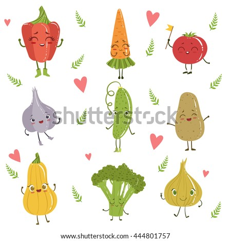 funny girly design vegetables