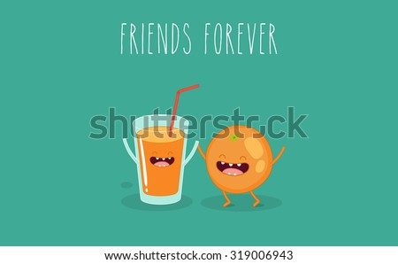 funny glass of orange juice