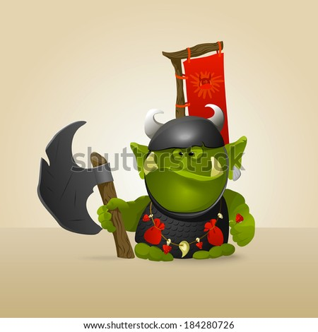 funny great warrior ork a