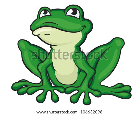 funny green frog