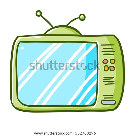 funny green old television