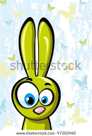 funny green rabbit