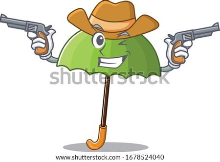 funny green umbrella as a
