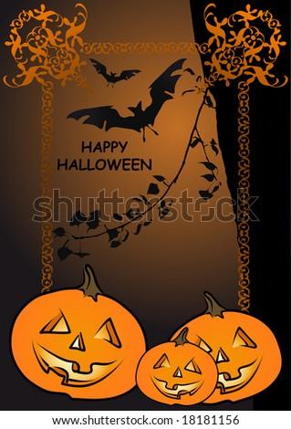 funny halloween. stock vector : funny halloween