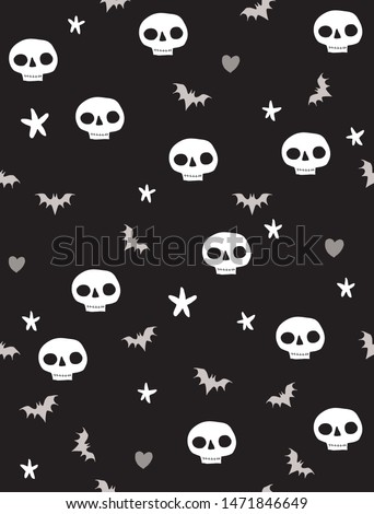 funny halloween print with bats