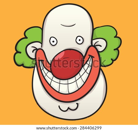 funny happy clown head