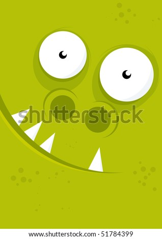 funny happy monster background