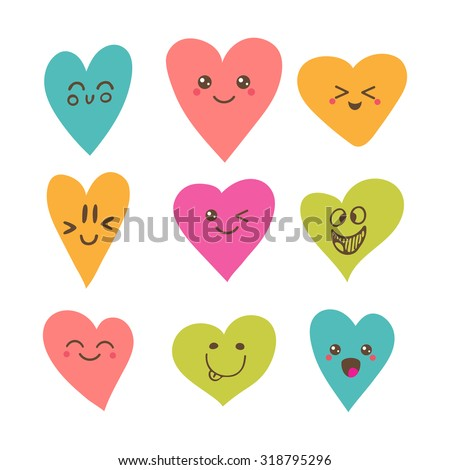 funny happy smiley hearts cute