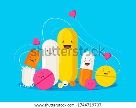 funny healing pills smiling