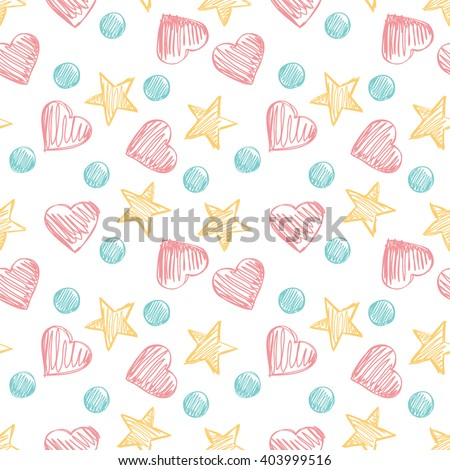 funny hearts seamless vector