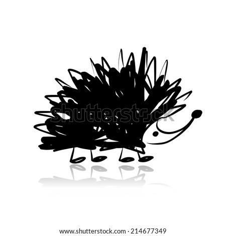 funny hedgehog  sketch for your