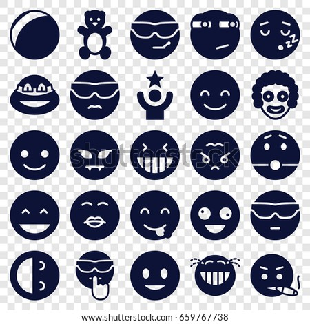 funny icons set set of 25