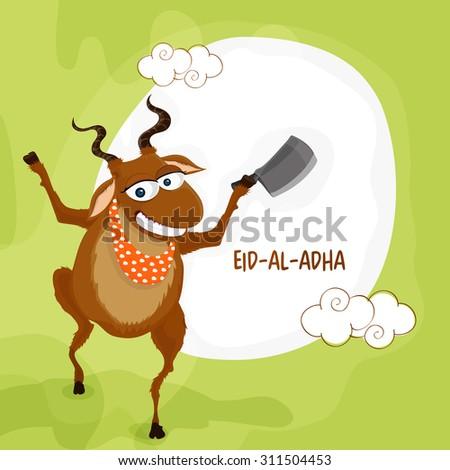 funny illustration of a goat