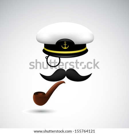 funny illustration of captain