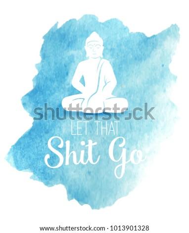 funny illustration with buddha