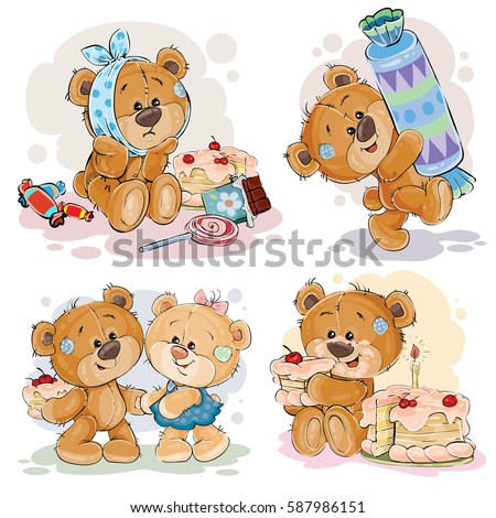 funny illustrations with teddy