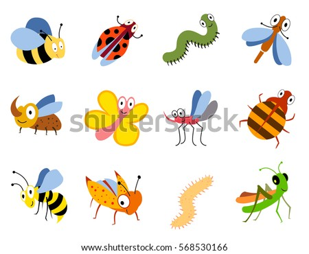 Free vector insects download free vector art stock graphics images funny insects cute cartoon bugs vector set colored insects bee butterfly and ladybird illustration ccuart Choice Image