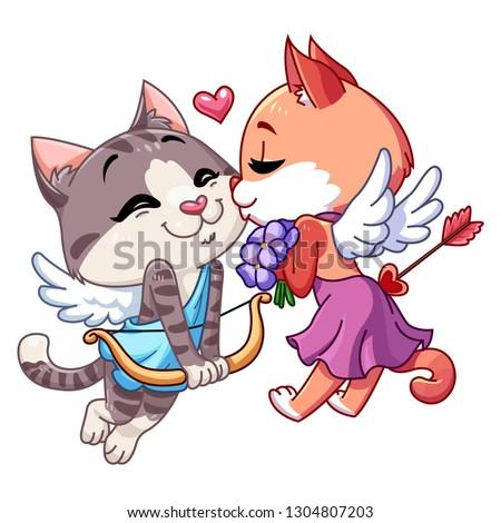 funny kitten cupid cupid cat