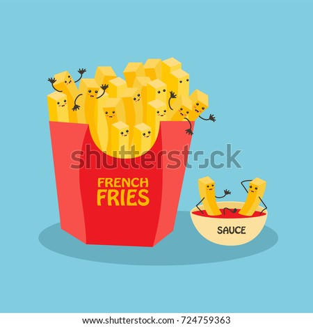 funny laughing french fries