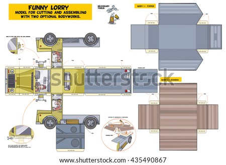 funny lorry   model for cutting