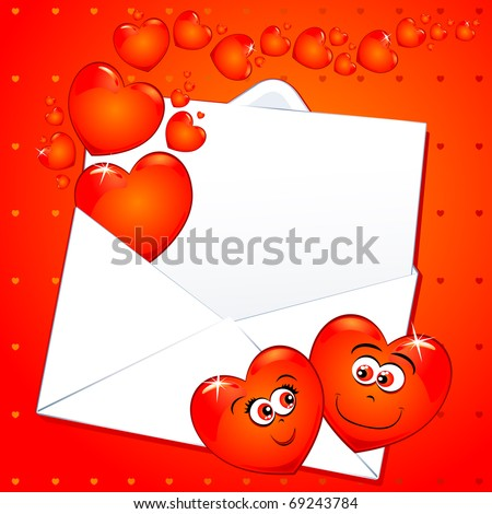funny love pictures. stock vector : Funny love