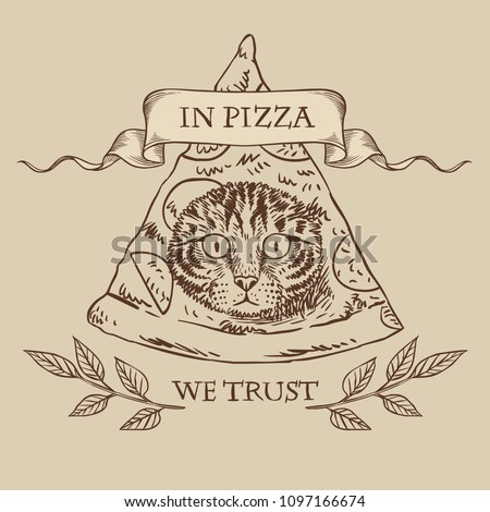 funny masonic symbol with pizza