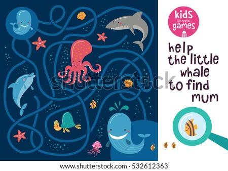 funny maze for children help