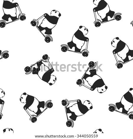 funny melancholy giant panda