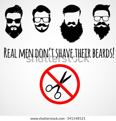 funny meme about beards vector