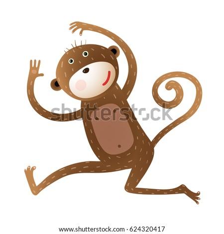 funny monkey animal cartoon