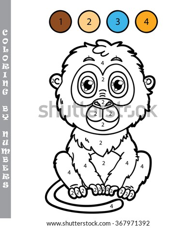 funny monkey coloring